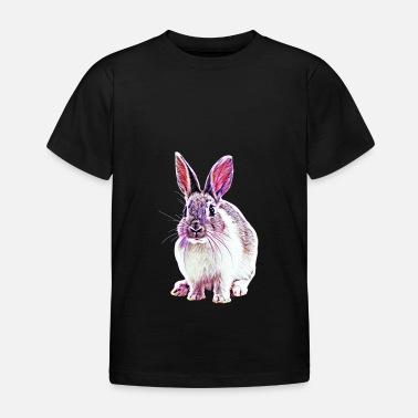 Lapin de Pâques personnalisé enfant t shirt Chaleur pressé avec WHITE VINYL-Nouveauté
