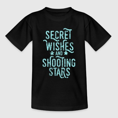 Shooting star, desire, fulfillment - Kids' T-Shirt