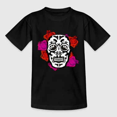totenkopf mexican pink flowers - Kinder T-Shirt