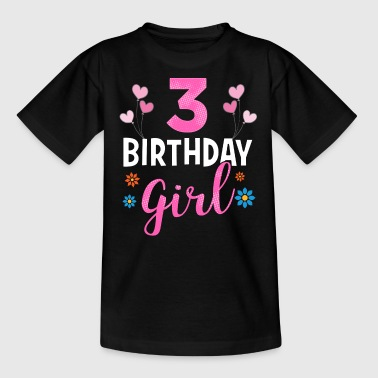 Birthday Girl - 3 years old - Kinder T-Shirt