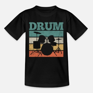 Drum Drums drums drummer drums - Kids' T-Shirt