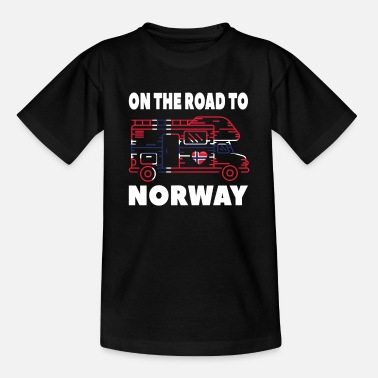 Norway On the road to Norway Camper Camping Norway - Kids' T-Shirt