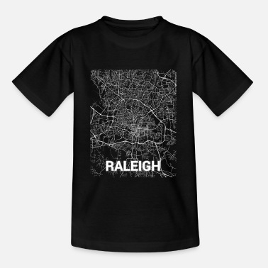 Raleigh Raleigh city map and streets - Kids' T-Shirt