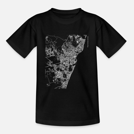 Cool T-Shirts - Minimal Recife city map and streets - Kids' T-Shirt black