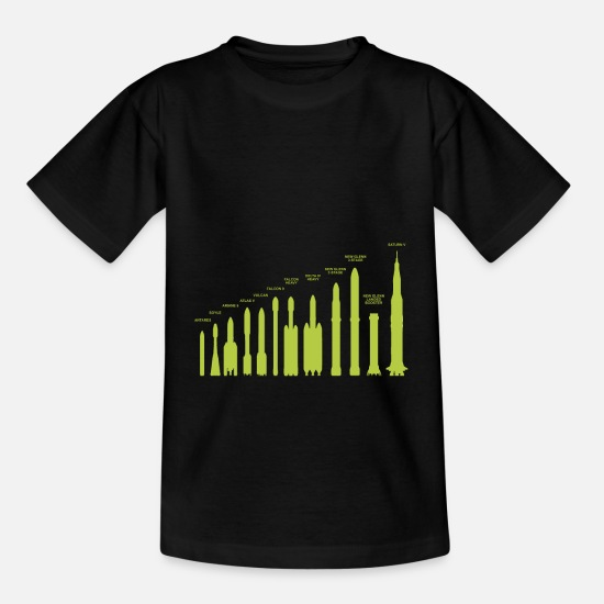 Idea T-Shirts - Rocket Weapon Spaceflight Fireworks Missile Gift - Kids' T-Shirt black