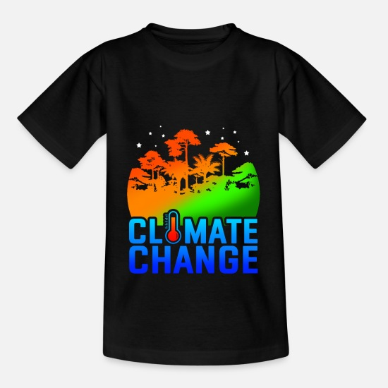 Activist T-Shirts - climate Change - Kids' T-Shirt black