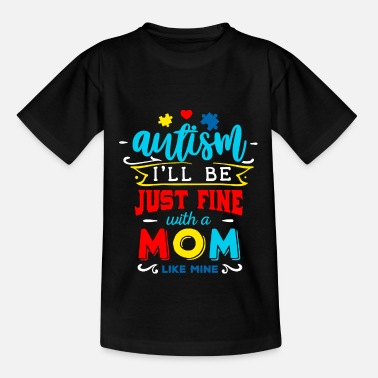Autismo Autism Mom Autism Awareness Gift Heart Love - Maglietta per bambini