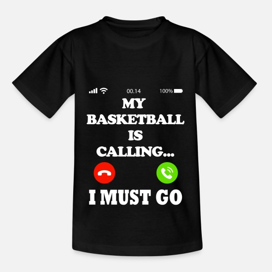Gift Idea T-Shirts - My basketball is calling - Kids' T-Shirt black