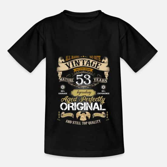 Birthday T-Shirts - Birthday design 53 years - Kids' T-Shirt black