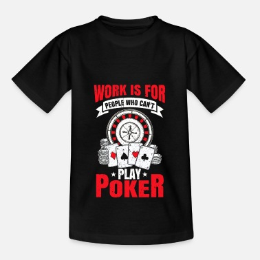 Vegas Poker Gift Poker Chips Kaarten Casino All in - Kinderen T-shirt