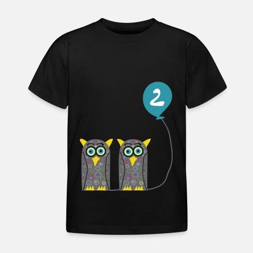 Zwei Susse Eulen Mit Luftballon Zum 2 Geburtstag Kinder T Shirt