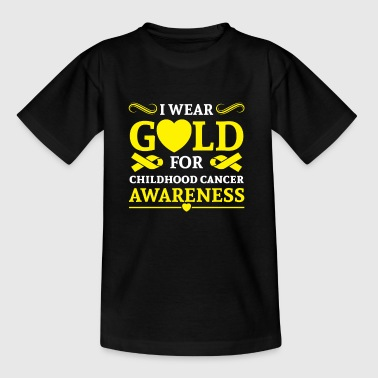 I wear Gold for childhood cancer awareness Sudaderas - Camiseta niño