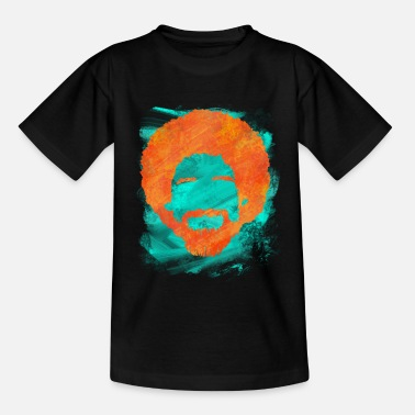 Ross Bob Afro Hairstyle | Ross painter artist painting - Kids' T-Shirt