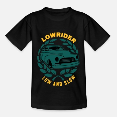 Papa Lowrider Low And Slow Geschenk - Kinder T-Shirt