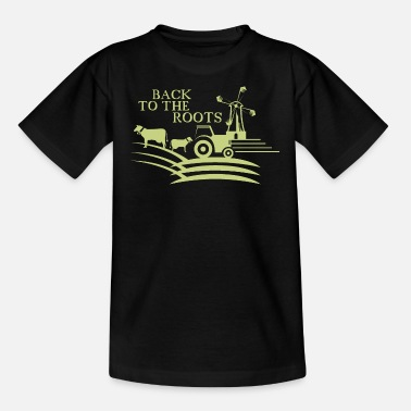 Root Crop back to the roots agriculture farm - Kids' T-Shirt