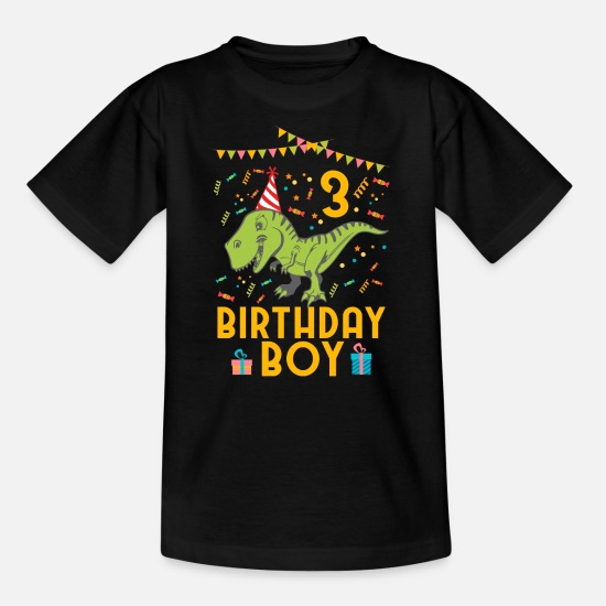 Birthday T-Shirts - Birthday Boy - 3rd birthday - Kids' T-Shirt black
