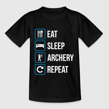Eat Sleep Archery Repeat - Kinder T-Shirt