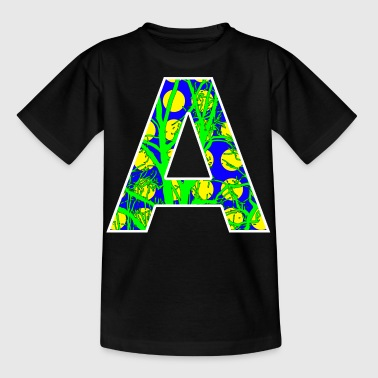 Letter Initial Letter A Initial Popart - Kids' T-Shirt