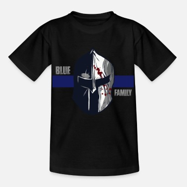 Police Blue Family Police Gift Thin Blue Line Police - Kids' T-Shirt