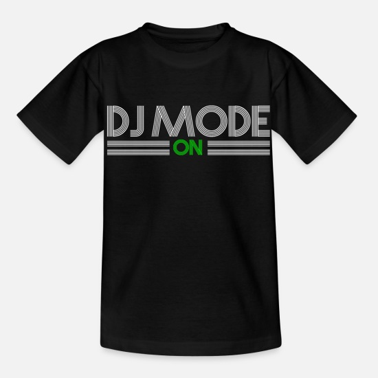 Music T-Shirts - DJ - Kids' T-Shirt black