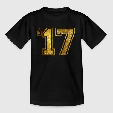 '17 - 2017 Gold Glitter - T-shirt barn