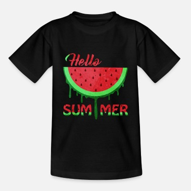 Watermelon Hello Summer | Watermelon summer holiday gift - Kids' T-Shirt