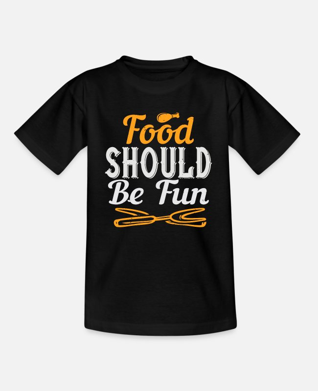 Art T-Shirts - Cooking saying cook cook - Kids' T-Shirt black