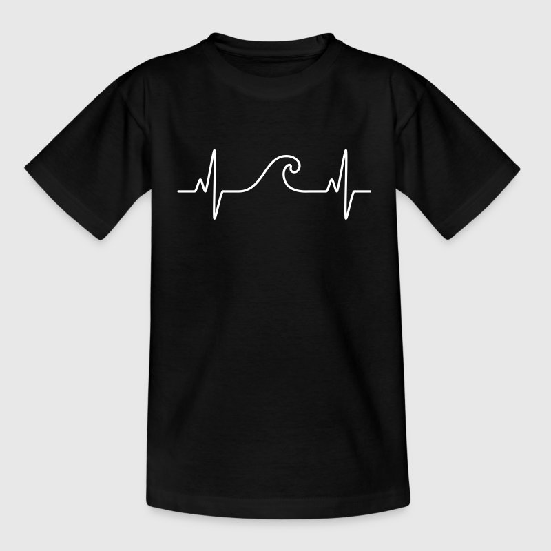Surf  The Wave | Funny Heartbeat Design - Kids' T-Shirt