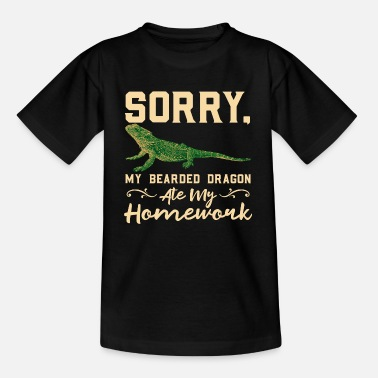 Baardagaam Sorry Mijn Bearded Dragon Ate My Homework - Kinderen T-shirt