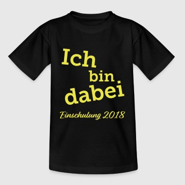 Je participe · inscription 2018 (jaune) - T-shirt Enfant