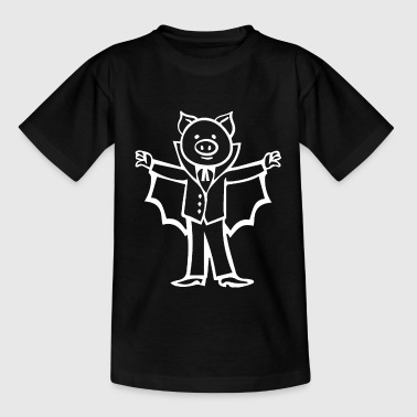 Pig vampire bloodsucker Dracula Halloween - Kids' T-Shirt