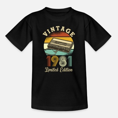 Year Of Birth Vintage 1981 - Kids' T-Shirt
