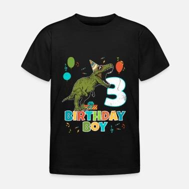 Dinosaur 3 Year Old Kids Birthday Boy Party T Rex