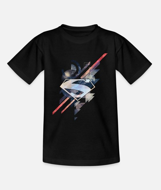 Geek T-shirts - Superman Logo Galaxy T-shirt tonåring - T-shirt barn svart