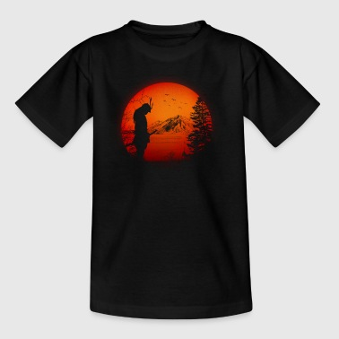 Japan Samurai Warriors (Japan / landscape / flag) - Kids' T-Shirt