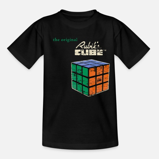 Cube T-shirts - Rubik's Cube The Original - Kinderen T-shirt zwart