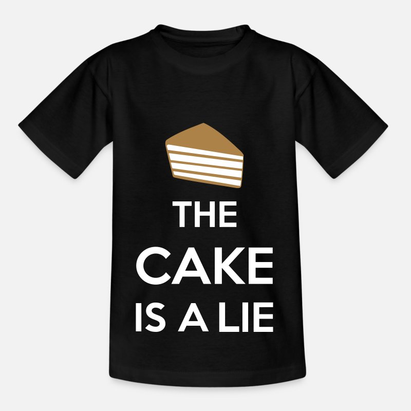 Game T-Shirts - The Cake Is A Lie - Kids' T-Shirt black