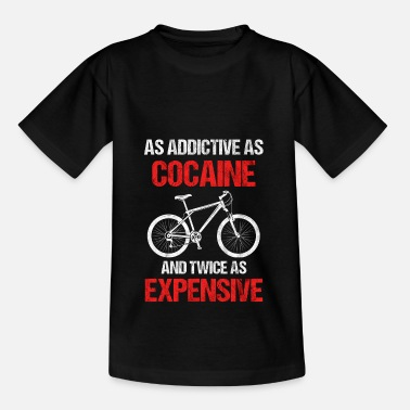 Cycling Mountain bike downhill cyclist gift - Kids' T-Shirt