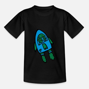 Alien rocket by glummie - Kinder T-Shirt