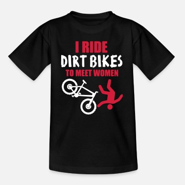 Bike Biker Dirt Bike Downhill Bike - T-shirt til børn