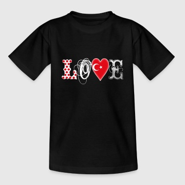 Love Turkey White - Kids' T-Shirt