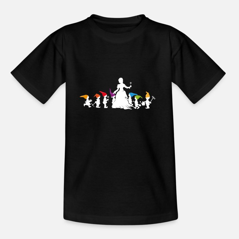 Seven T-Shirts - Snow White and the Seven Dwarfs - Kids' T-Shirt black