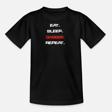 Gabber eat sleep repeat GABBER - Kinder T-Shirt