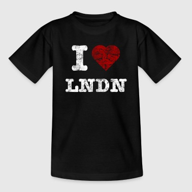 I Love LoNDoN vintage light - Kids' T-Shirt
