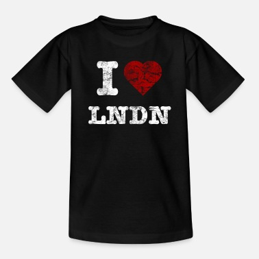 I Love LoNDoN vintage light - T-shirt barn