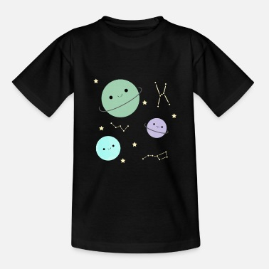 Cute Kawaii planets - Kids' T-Shirt