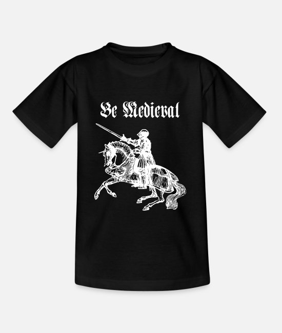 Black Metal T-Shirts - Be Medieval - Kids' T-Shirt black