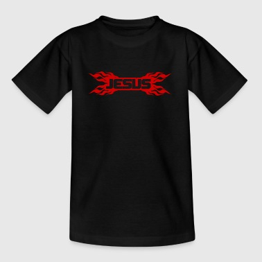 Flaming Jesus Logo 01 - Kids' T-Shirt
