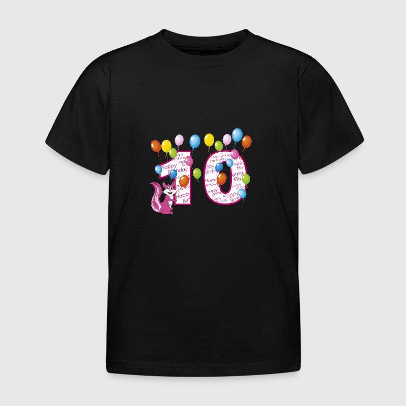 zehnter geburtstag 10 jahre eichh rnchen t shirt spreadshirt. Black Bedroom Furniture Sets. Home Design Ideas