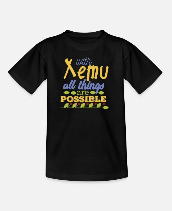 Thetan T-Shirts - With Xemu All Things are Possible - Kinder T-Shirt Schwarz